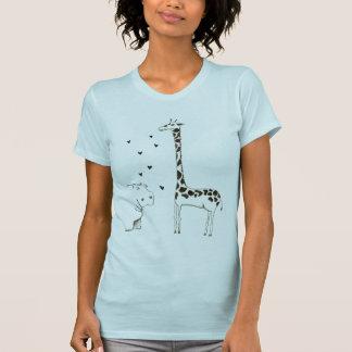 Hippo loves Giraffe T-Shirt