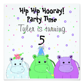 Hippo Party Invitation