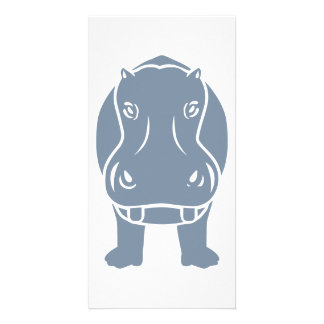 Hippo Personalised Photo Card
