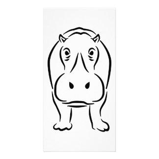 Hippo Customized Photo Card