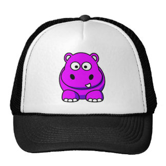 Hippo Pink Trucker Hats