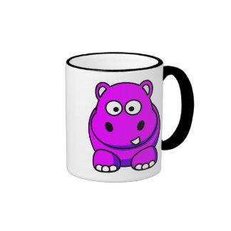 Hippo Pink Ringer Mug