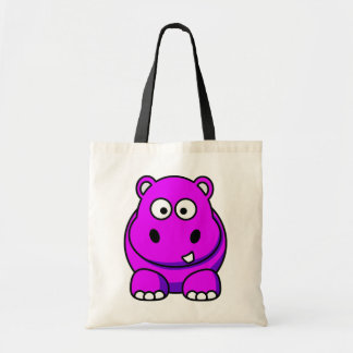 Hippo Pink Tote Bag