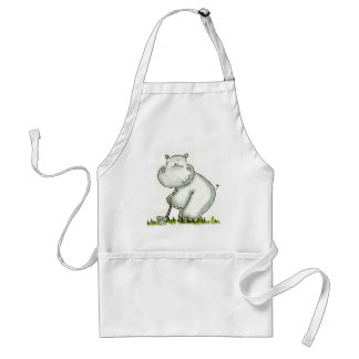 Hippo plays Golf Standard Apron