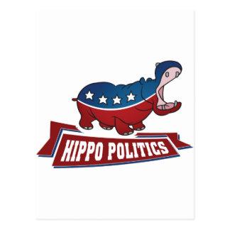 Hippo Politics Postcard