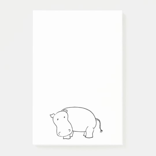 Hippo post it notes