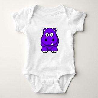 Hippo Purple Baby Bodysuit