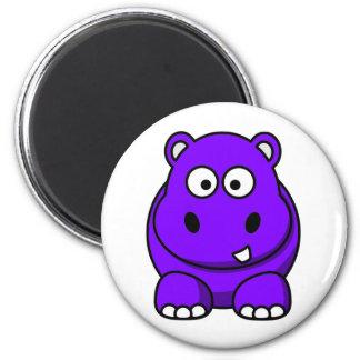 Hippo Purple Magnet