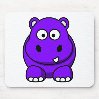 Hippo Purple Mouse Mat