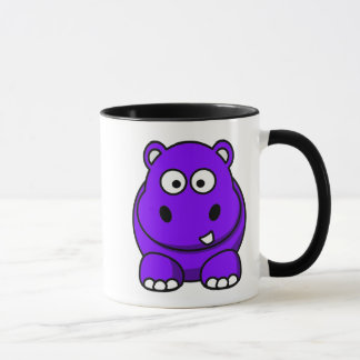 Hippo Purple Mug