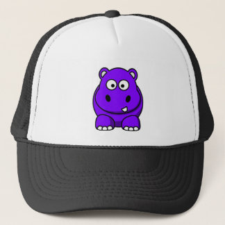 Hippo Purple Trucker Hat