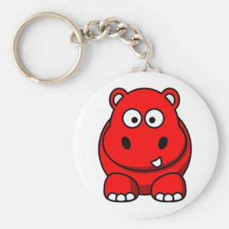 Hippo Red Key Ring