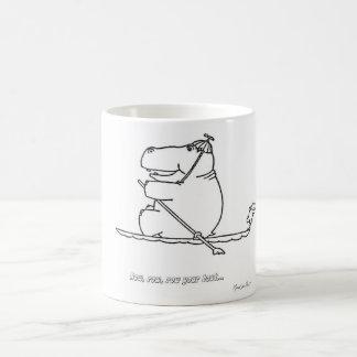 Hippo Row Boat Mug