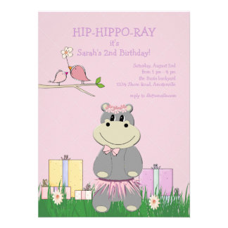 Hippo s Birthday Invitation