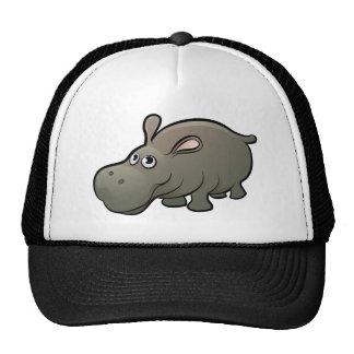 Hippo Safari Animals Cartoon Character Cap