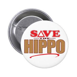 Hippo Save 6 Cm Round Badge
