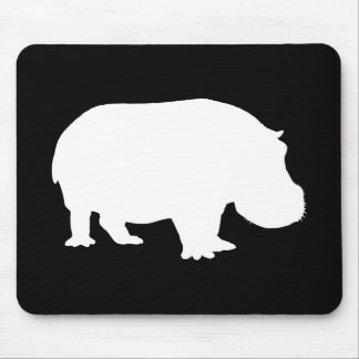 Hippo Silhouette Mouse Mat