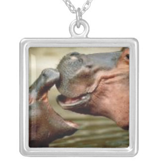 HIPPO SILVER PLATED NECKLACE