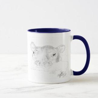 Hippo Sketch mug