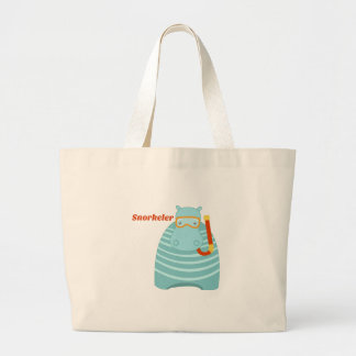 Hippo Snorkeler Canvas Bags