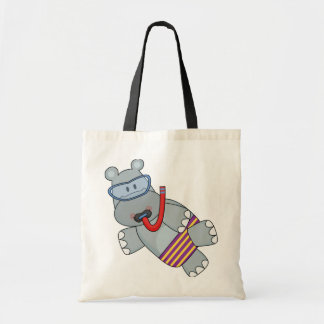 Hippo Snorkeler T-shirts and Gifts Canvas Bag
