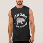 Hippo, strong is the new hip sleeveless shirt