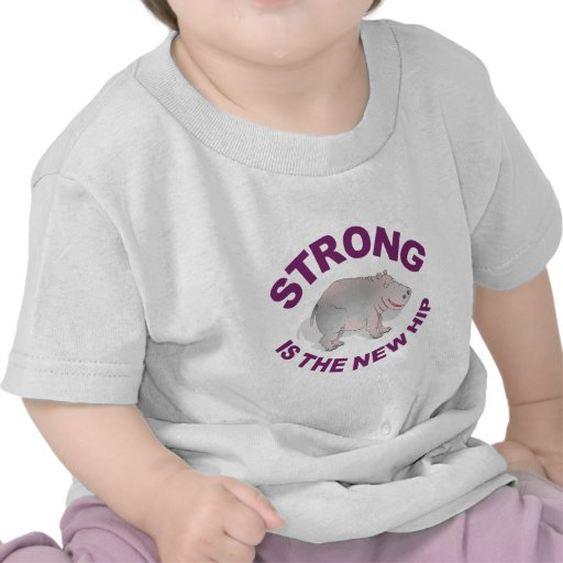 Hippo, strong is the new hip tee shirt