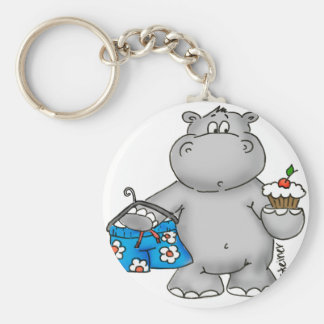 Hippo_Summer_Conflict.png Basic Round Button Key Ring