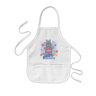 Hippo Surfing Tshirts and Gifts Apron