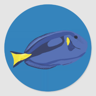 Hippo Tang Fish (Dory) Classic Round Sticker