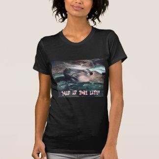 Hippo This is the Life Ladies Tshirt
