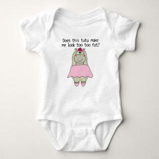 Hippo Tu Tu Fat Baby Bodysuit