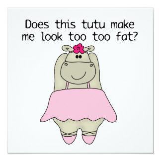 Hippo Tu Tu Fat Card