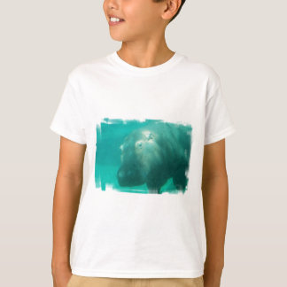 Hippo Under Water Youth T-Shirt