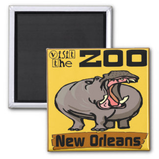 Hippo: Visit Zoo New Orleans Square Magnet