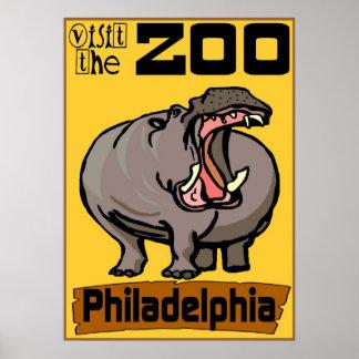 Hippo: Visit Zoo Philadelphia Poster