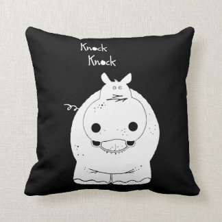 Hippo with quote cushion