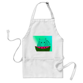 Hippo with Watermelon Slice Standard Apron