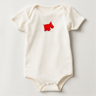 "Hippo Works Organic Baby Bodysuit ""Baby Simon"""