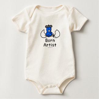 "Hippo Works Organic Baby Bodysuit ""Born Artist"""