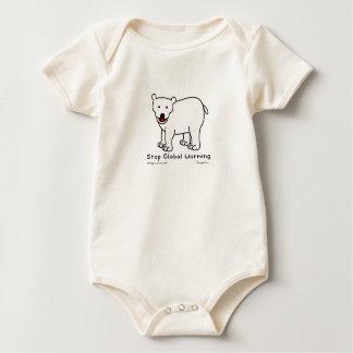 """Hippo Works Organic Baby Bodysuit """"Polar Bear"""""""