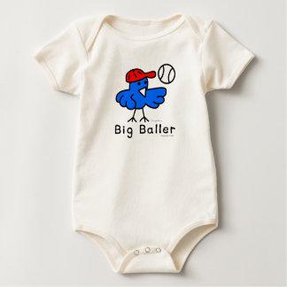 """Hippo Works Organic Bodysuit """"Big Baller Baseball"""""""