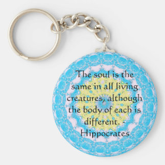 Hippocrates Animal Rights Quote Key Ring