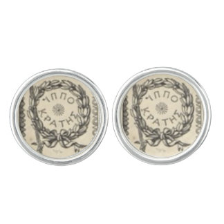 Hippocrates in Greek Cufflinks