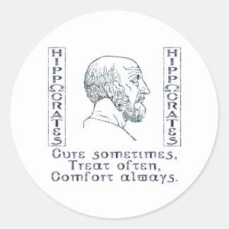 Hippocrates Round Sticker