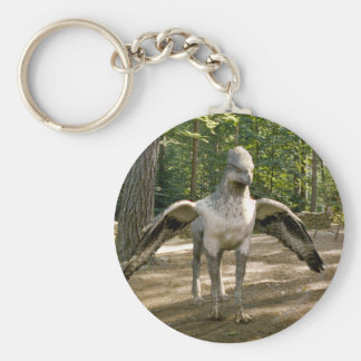 Hippogriff Basic Round Button Key Ring
