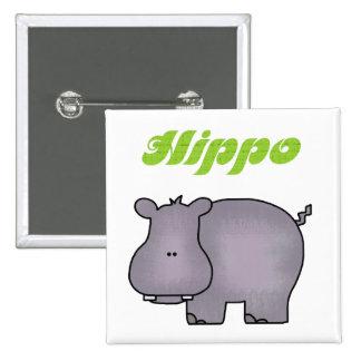 Hippopotamus Buttons
