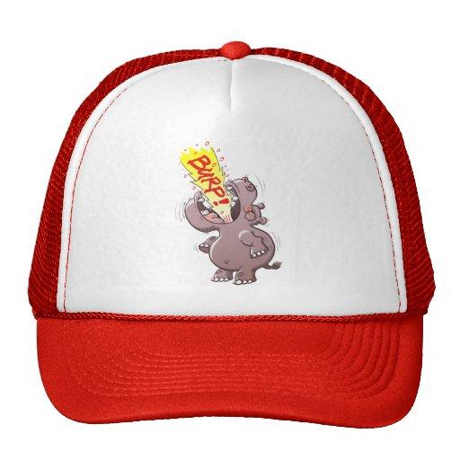 Hippopotamus Burping Loudly Trucker Hats