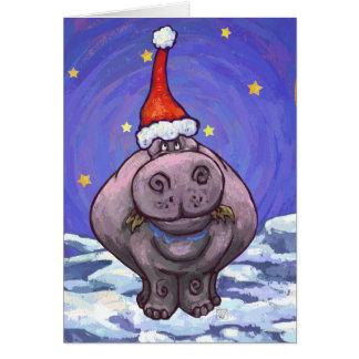 Hippopotamus Christmas Card