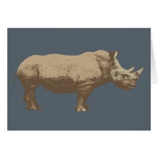 Hippopotamus Cut Out On Blue Background Greeting Card